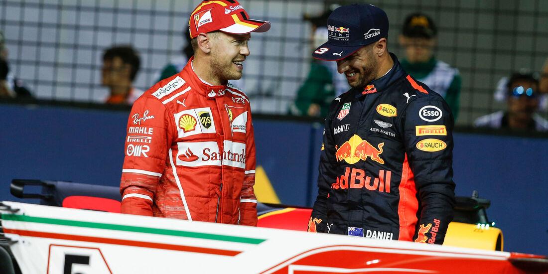 Sebastian Vettel - Daniel Ricciardo - GP Singapur - Qualifying