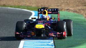 Sebastian Vettel F1 Test Jerez