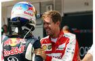 Sebastian Vettel - Ferrari - Daniel Ricciardo - Red Bull - GP Ungarn - Budapest - Qualifying - Samstag - 25.7.2015