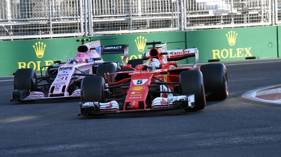Sebastian Vettel - Ferrari - GP Aserbaidschan 2017 - Baku - Rennen