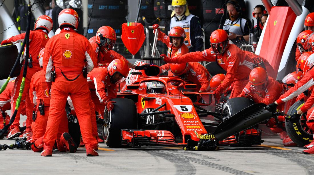 Sebastian Vettel - Ferrari - GP Brasilien 2018 - Rennen