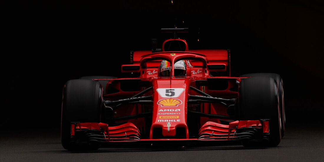 Sebastian Vettel - Ferrari - GP Monaco - Formel 1 - Donnerstag - 24.5.2018