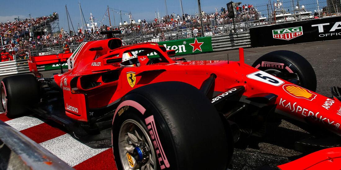 Sebastian Vettel - Ferrari - GP Monaco - Formel 1 - Samstag - 26.5.2018