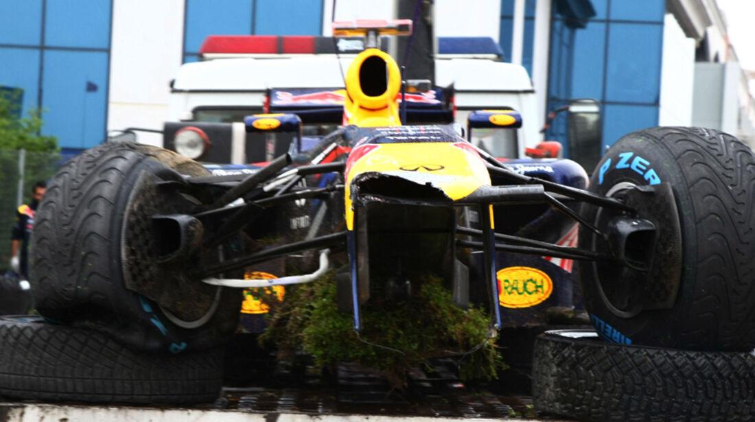 Sebastian Vettel GP Türkei Crashs 2011