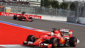 Sebastian Vettel - Kimi Räikkönen - Ferrari - GP Russland - Sochi - Qualifying - Samstag - 10.10.2015