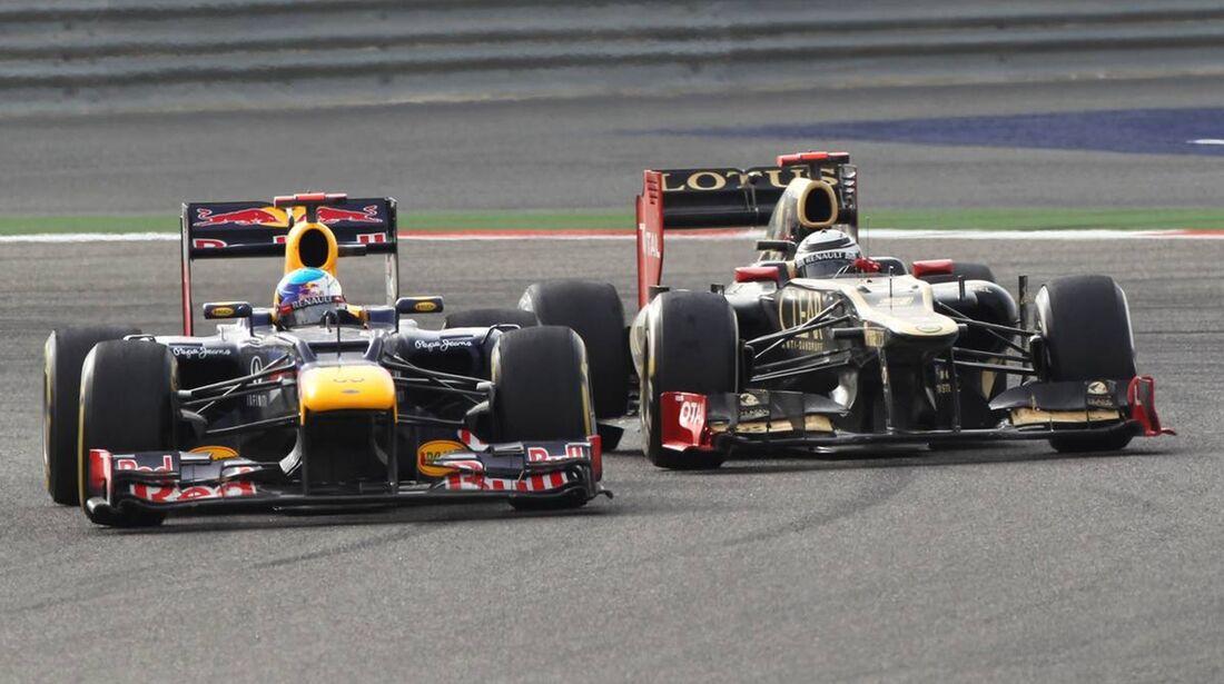 Sebastian Vettel - Kimi Räikkönen  - Formel 1 - GP Bahrain - 22. April 2012