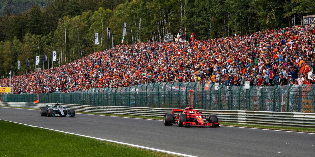 Sebastian Vettel - Lewis Hamilton - GP Belgien 2018 - Spa