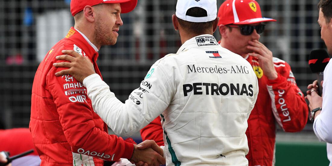 Sebastian Vettel - Lewis Hamilton - Qualifying - GP Australien 2018 - Melbourne