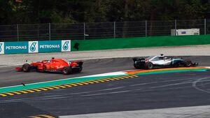 Sebastian Vettel - Lewis Hamitlon - Ferrari - Mercedes - GP Italien - Formel 1 - 2. September 2018