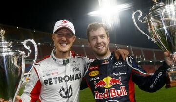 Sebastian Vettel & Michael Schumacher - Race of Champions - Bangkok 2012