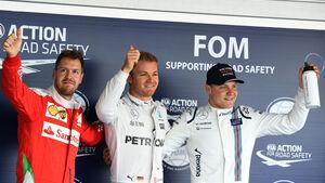 Sebastian Vettel - Nico Rosberg - Valtteri Bottas - Formel 1 - GP Russland - 30. April 2016