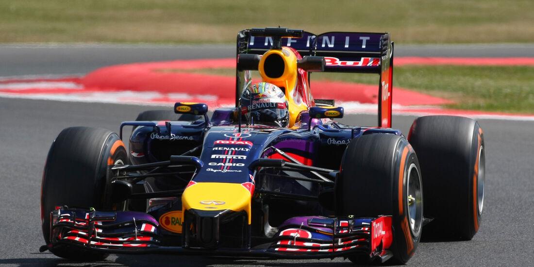 Sebastian Vettel - Red Bull - Formel 1 - GP England - Silverstone - 4. Juli 2014