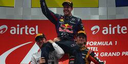 Sebastian Vettel Red Bull Formel 1 GP Indien 2013