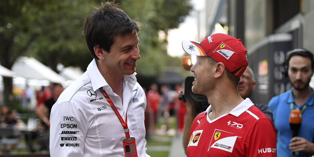 Sebastian Vettel & Toto Wolff - Formel 1 - 2017