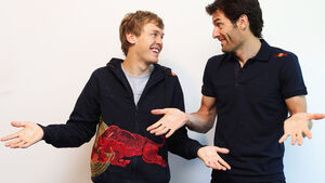 Sebastian Vettel und Mark Webber