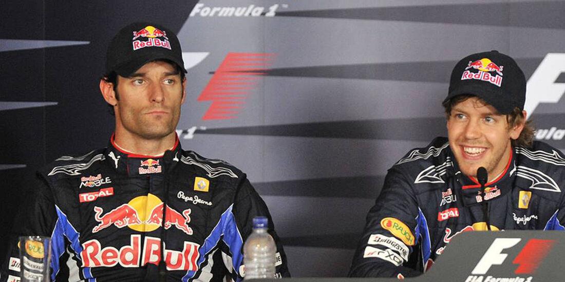 Sebastian vettel Mark Webber