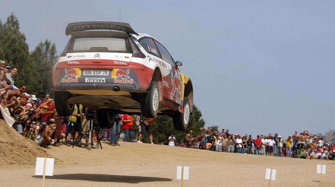 Sebastien Loeb, Rallye Sardinien 2009, Rallye-Sprünge