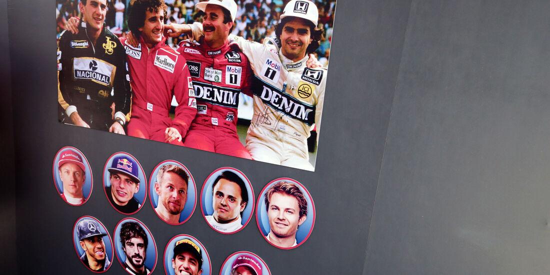 Senna - Prost - Mansell - Piquet - GP Brasilien - Interlagos - Freitag - 11.11.2016