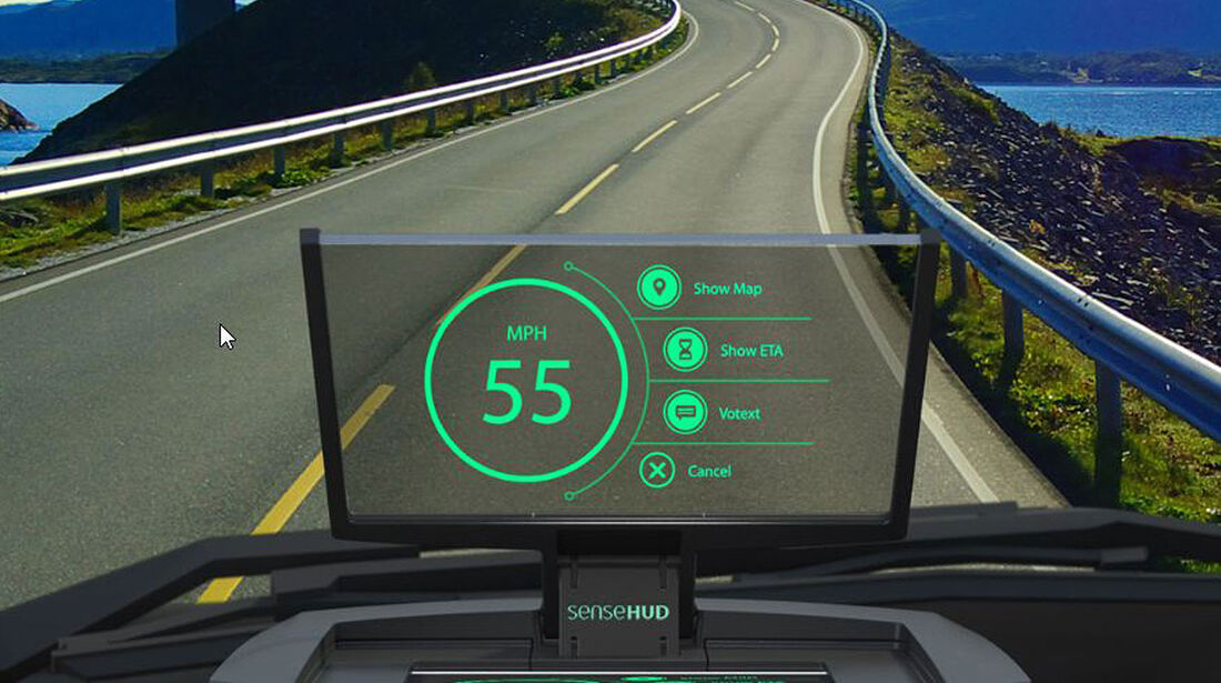 SenseDriver Head up Display CES 2015