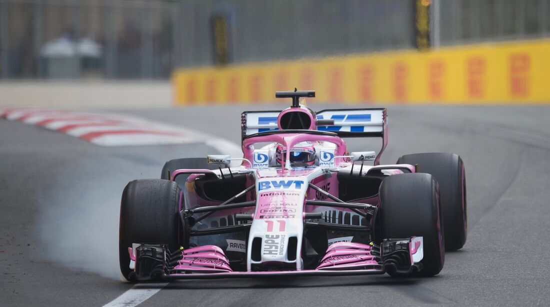 Sergio Perez - Force India - Formel 1 - GP Aserbaidschan - 28. April 2018