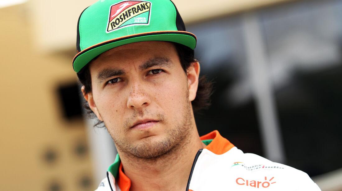 Sergio Perez - Force India - Formel 1 - GP Bahrain - Sakhir - 3. April 2014