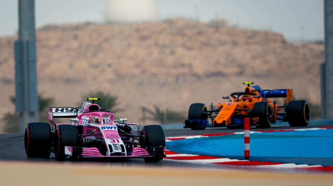 Sergio Perez - Force India - Formel 1 - GP Bahrain - Training - 6. April 2018