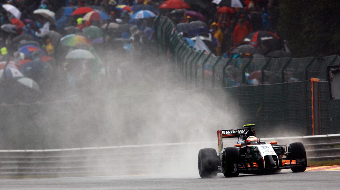 Sergio Perez - Force India - Formel 1 - GP Belgien - Spa-Francorchamps - 23. November 2014