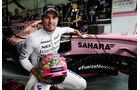 Sergio Perez - Force India - Formel 1 - GP Malaysia - Sepang - 30. September 2017