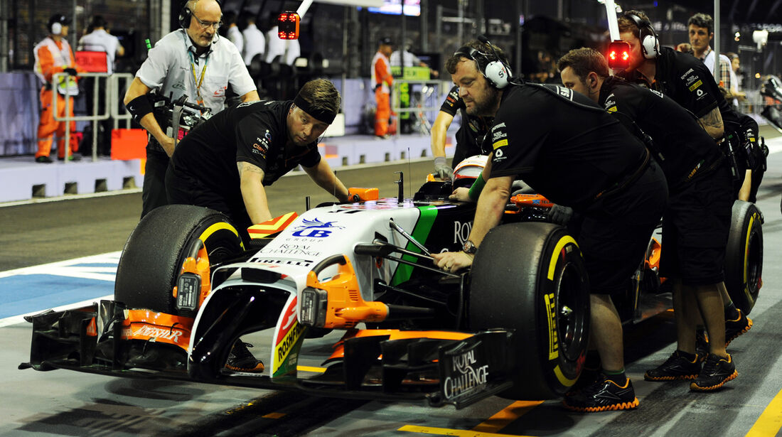 Sergio Perez - Force India - Formel 1 - GP Singapur - 19. September 2014