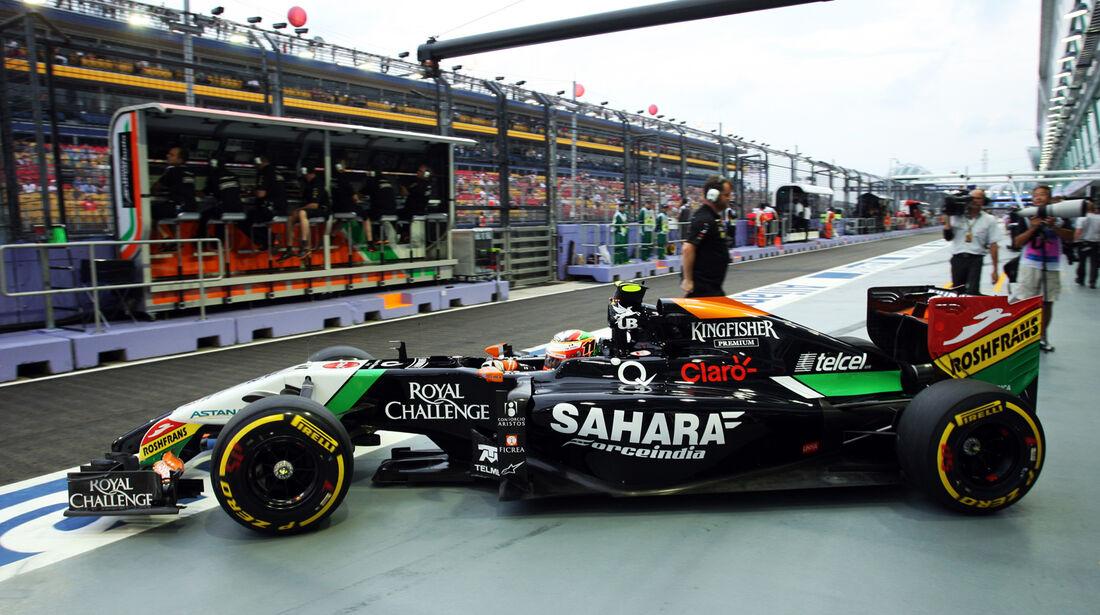 Sergio Perez - Force India - Formel 1 - GP Singapur - 20. September 2014