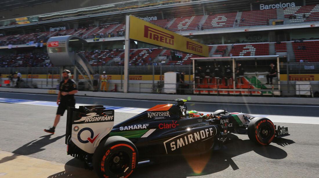 Sergio Perez - Force India - Formel 1 - GP Spanien - Barcelona - 9. Mai 2014