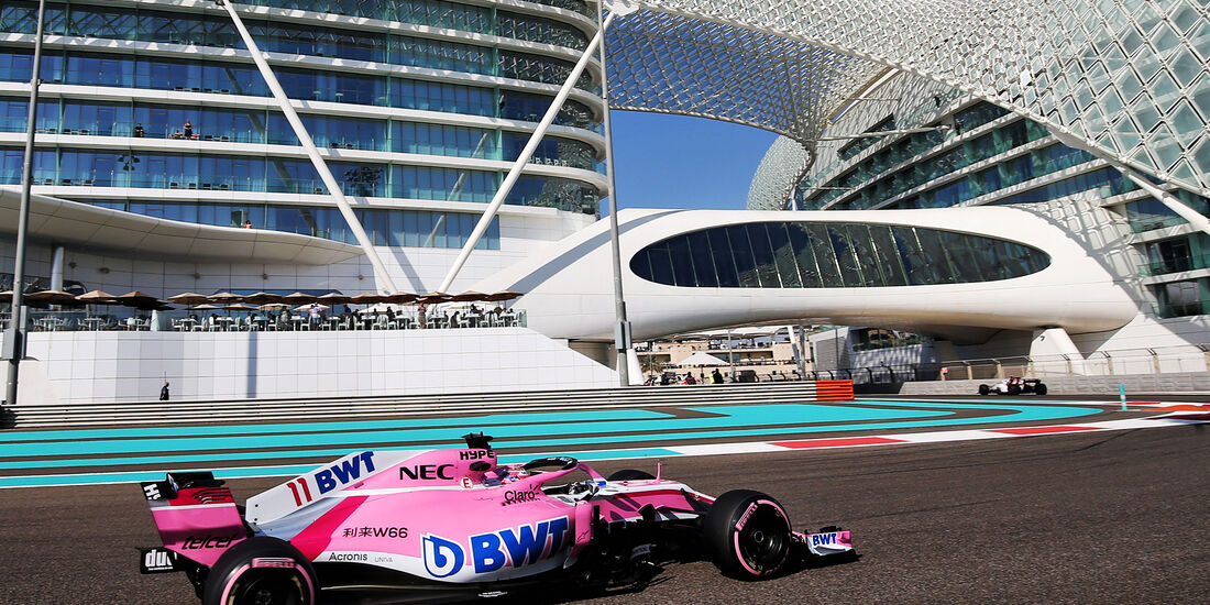Sergio Perez - Force India - GP Abu Dhabi - Formel 1 - 23. November 2018
