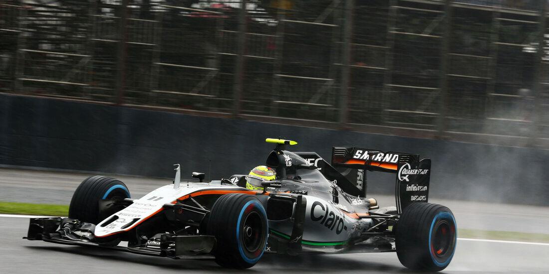 Sergio Perez - Force India - GP Brasilien 2016 - Interlagos - Rennen