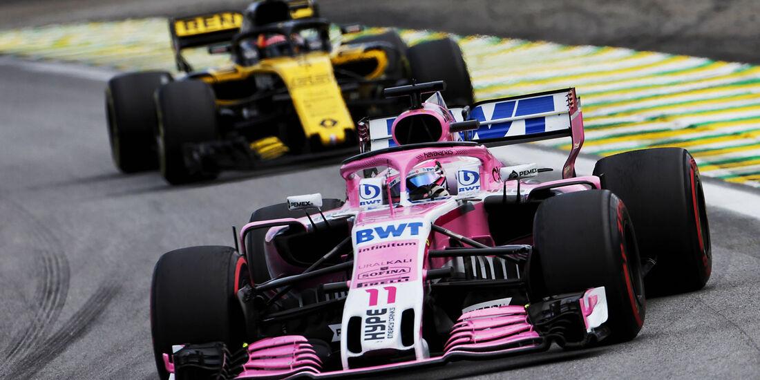 Sergio Perez - Force India - GP Brasilien 2018 - Rennen