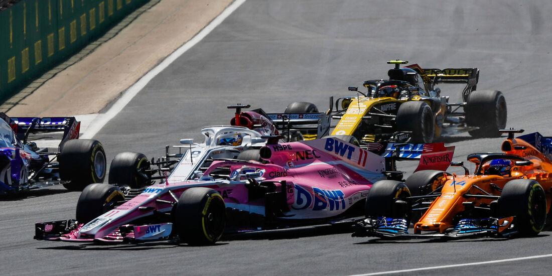 Sergio Perez - Force India - GP England 2018 - Silverstone - Rennen