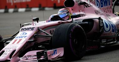 Sergio Perez - Force India - GP Singapur - Formel 1 - Freitag - 15.9.2017