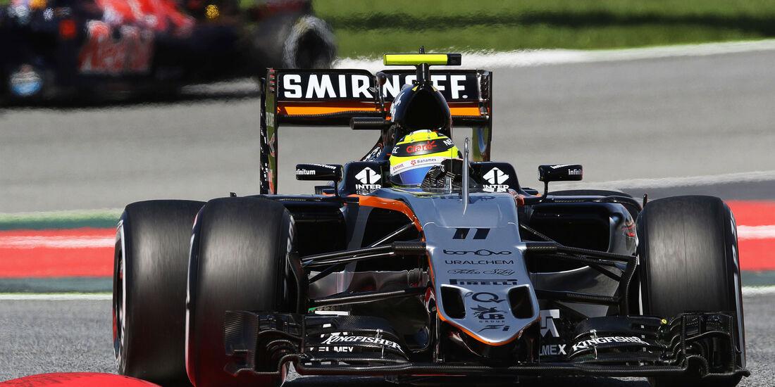 Sergio Perez - Force India - GP Spanien 2016 - Qualifying - Samstag - 14.5.2016