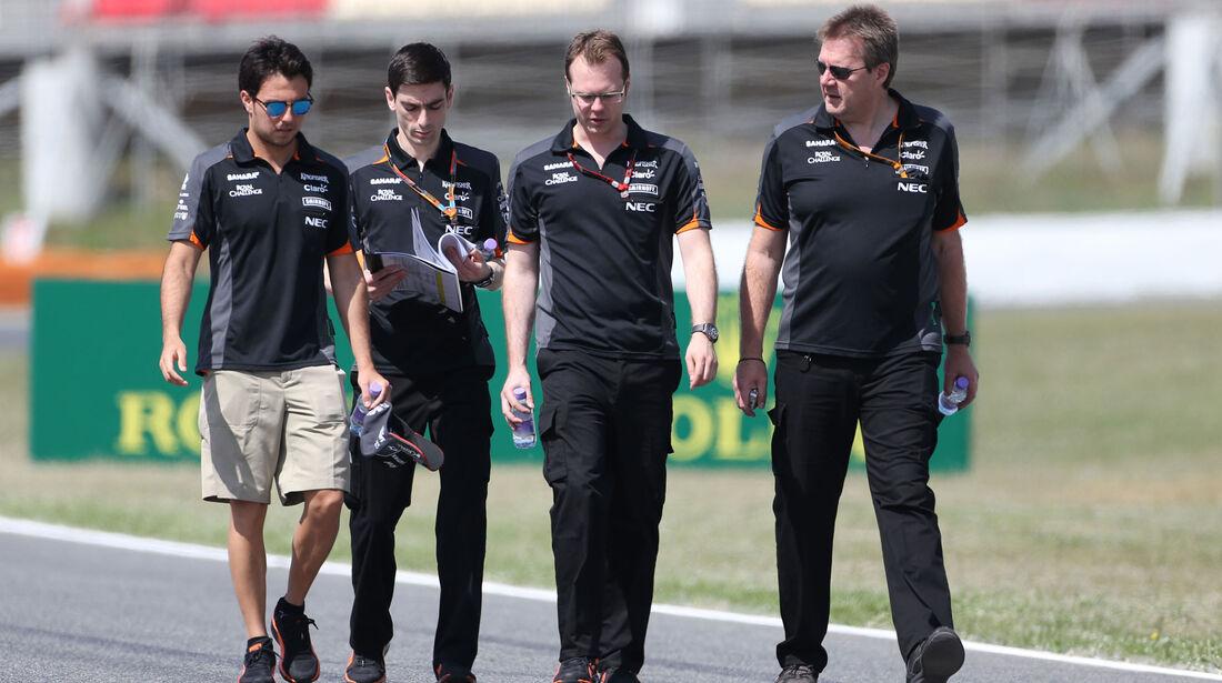 Sergio Perez - Force India - GP Spanien - Barcelona - Donnerstag - 7.5.2015