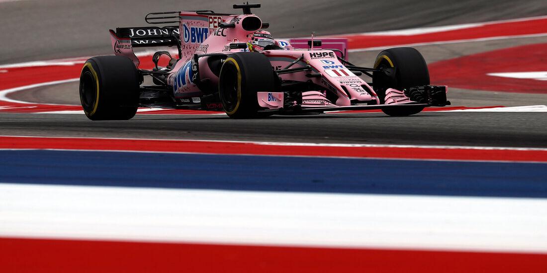 Sergio Perez - Force India - GP USA - Austin - Formel 1 - Freitag - 20.10.2017