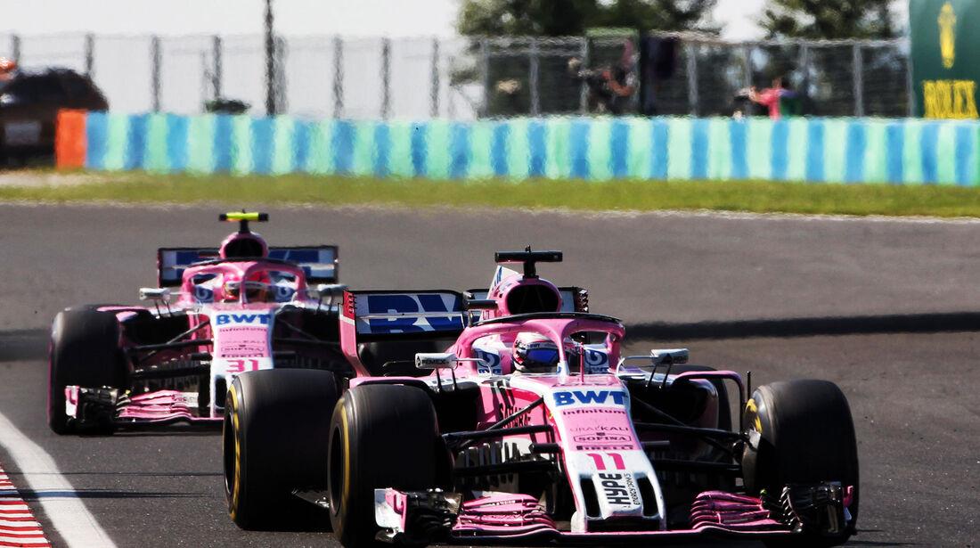 Sergio Perez - Force India - GP Ungarn 2018 - Rennen