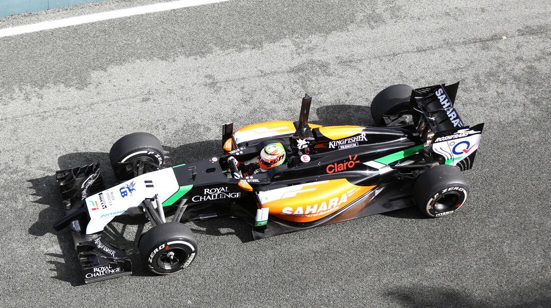 Sergio Perez - Force India - Jerez - Formel 1 - Test - 29. Januar 2014