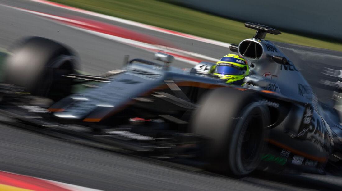 Sergio Perez - Force India - Testfahrten - Barcelona - Freitag - 10.3.2017