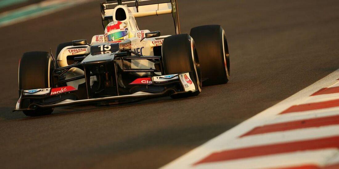 Sergio Perez - Formel 1 - GP Abu Dhabi - 02. November 2012