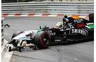 Sergio Perez - GP Monaco - Crashs 2014