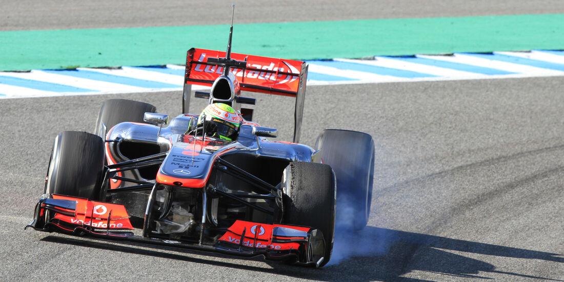 Sergio Perez McLaren F1 Test Jerez 2013 Highlights