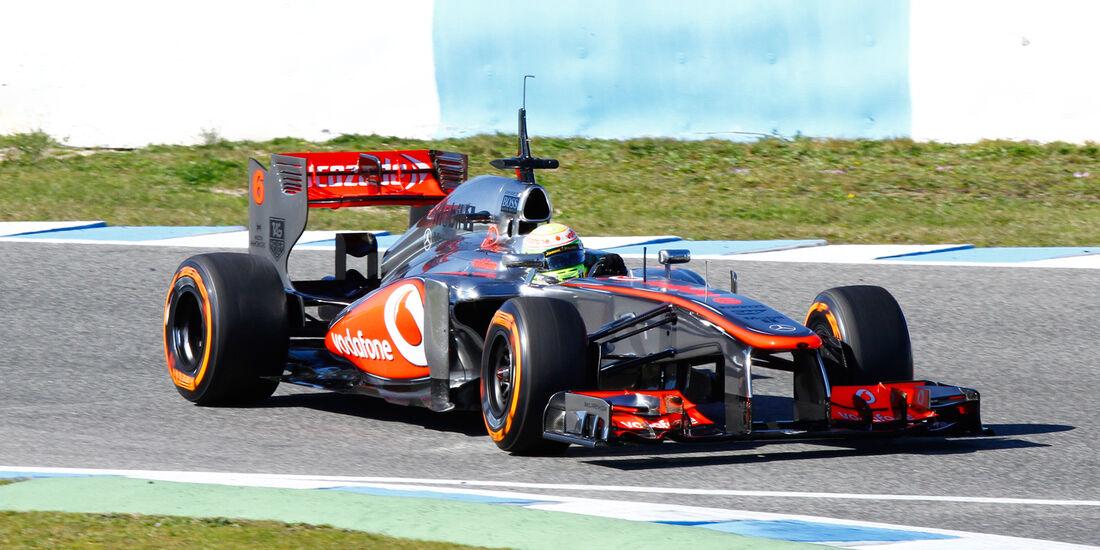Sergio Perez, McLaren, Formel 1-Test, Jerez, 8. Februar 2013