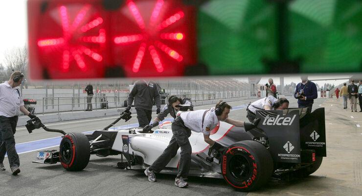 Sergio Perez - Sauber - Formel 1-Test Barcelona - 3. März 2012