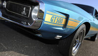 Shelby Mustang GT 500, Baujahr 1969, Lüftungsschlitz