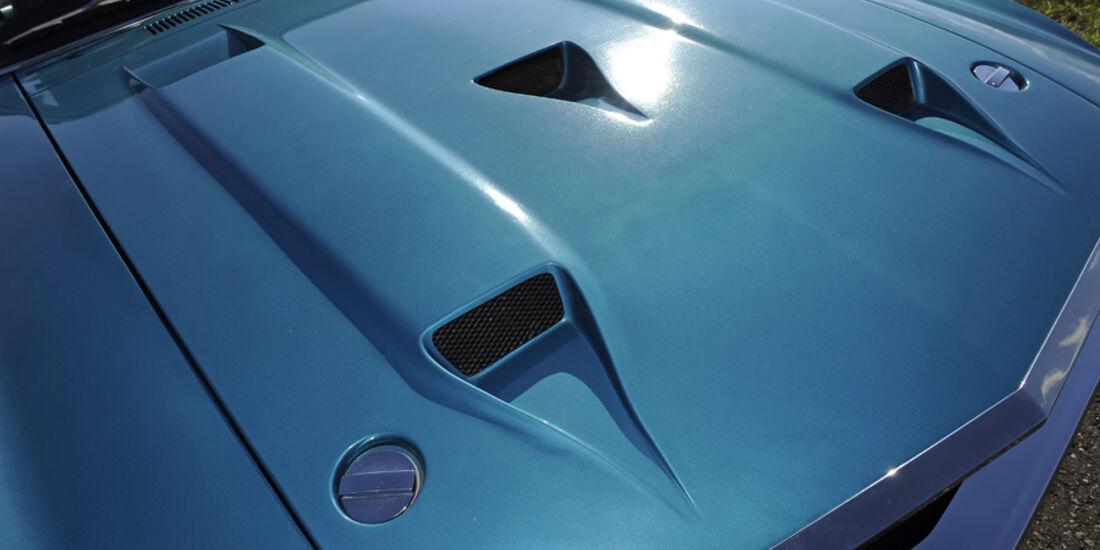 Shelby Mustang GT 500, Baujahr 1969, Motorhaube