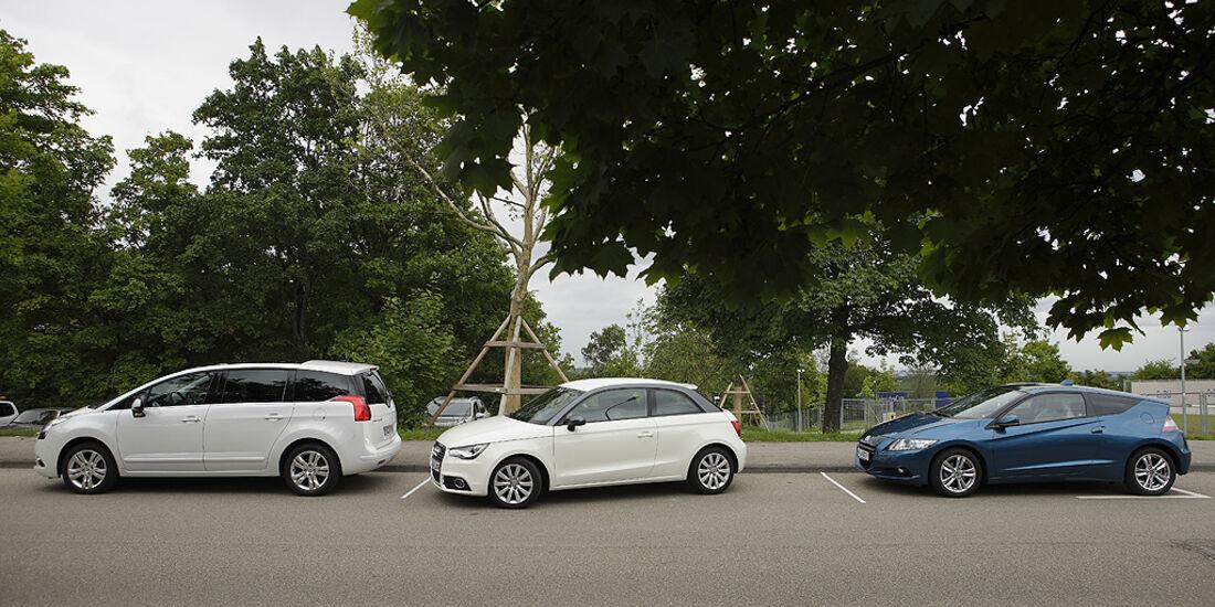 Sichtfeld Parksituation, Audi A1